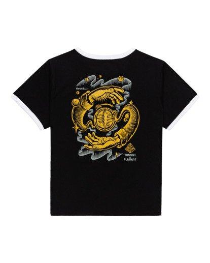 1 Rotation - T-Shirt for Women Black Z3SSE9ELF1 Element