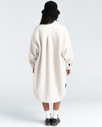 4 Manitoba Pile - Oversized Shirt for Women Beige Z3WAA2ELF1 Element