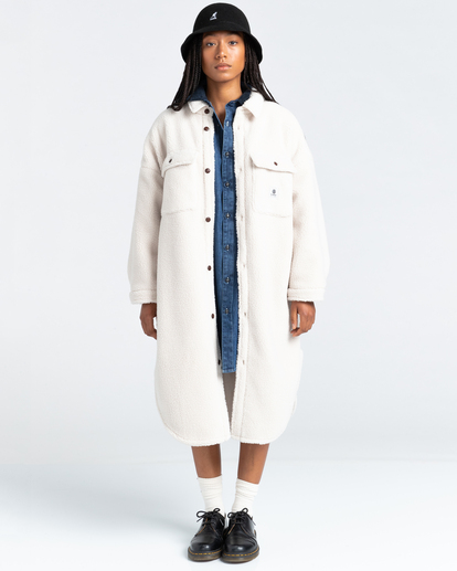 1 Manitoba Pile - Oversized Shirt for Women Beige Z3WAA2ELF1 Element