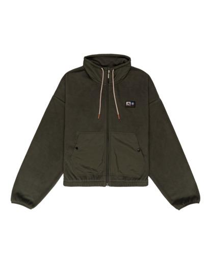 0 Oslo - Zip-Up Sweatshirt for Women Green Z3WAA4ELF1 Element