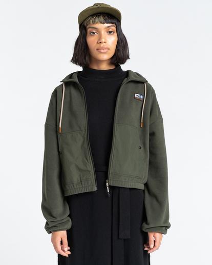 1 Oslo - Zip-Up Sweatshirt for Women Green Z3WAA4ELF1 Element