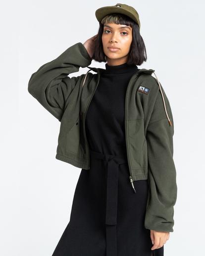 2 Oslo - Zip-Up Sweatshirt for Women Green Z3WAA4ELF1 Element