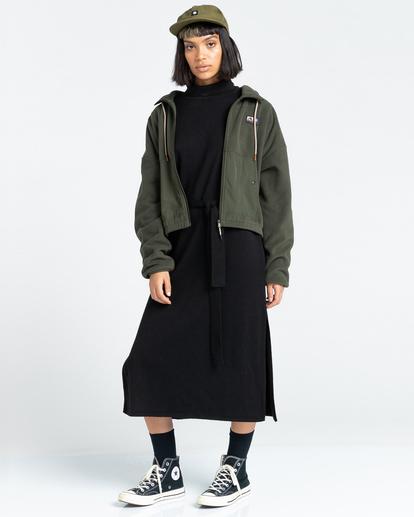 4 Oslo - Zip-Up Sweatshirt for Women Green Z3WAA4ELF1 Element