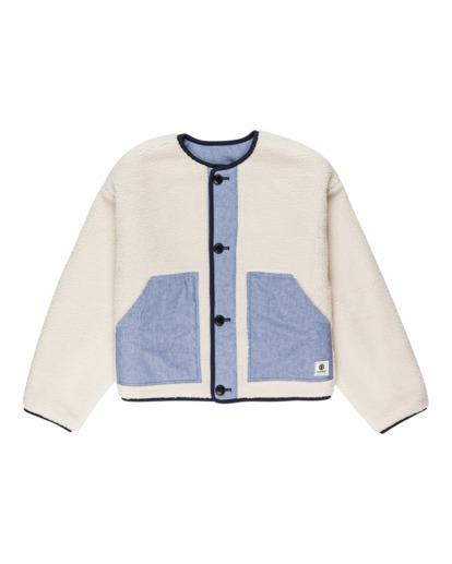 0 Augusta Pile - Reversible Button-Up Sweatshirt for Women Beige Z3WAA5ELF1 Element