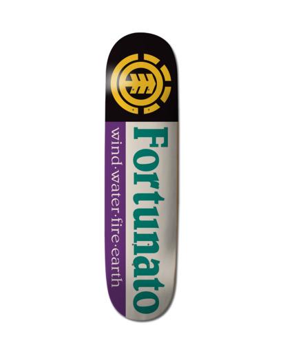 "0 8"" Fortunato Sect - Skateboard Deck Black Z4DCF4ELF1 Element"