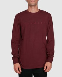 0 GYM LONG SLEEVE TEE Red 102051 Element