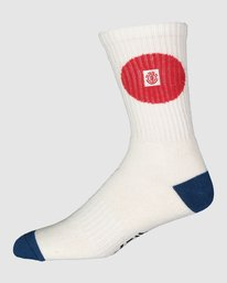 0 Tokyo Socks White 107693 Element