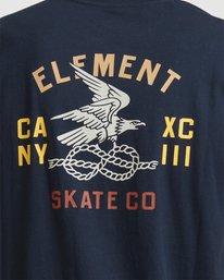 4 CA NY EAGLE SHORT SLEEVE TEE Blue 117005 Element