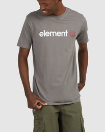 0 HORIZON SHORT SLEEVE TEE Grey 183001 Element