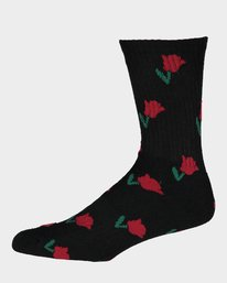 0 Rose Sock Black 183698 Element