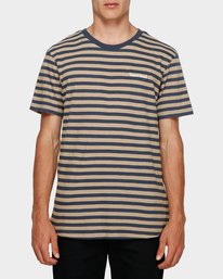 0 Manual Stripe Tee Beige 193002 Element