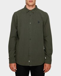 0 Icon Crisp Long Sleeve Shirt Green 193218 Element