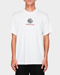 0 Element House Ss Tee White 194019 Element