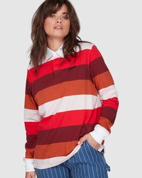 0 BREAK DOWN RUGBY LONG SLEEVE TOP Red 207152 Element
