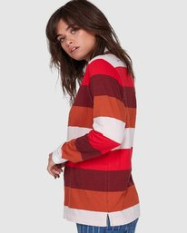 2 BREAK DOWN RUGBY LONG SLEEVE TOP Red 207152 Element