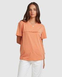 1 LANE SHORT SLEEVE TEE Orange 217004 Element