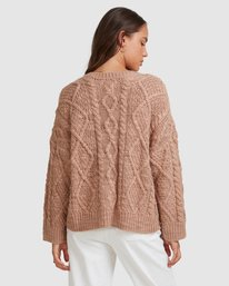3 CAMDEN KNITTED CARDIGAN Brown 217152 Element