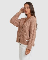 2 CAMDEN KNITTED CARDIGAN Brown 217152 Element