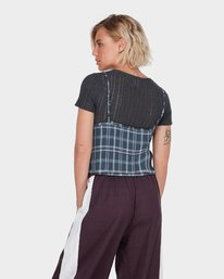 1 LOOPED CHECK CAMI TOP Blue 284218 Element