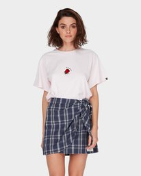 0 LOOPED CHECK SKIRT Blue 284854 Element