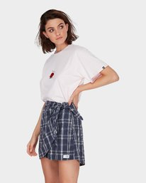 2 LOOPED CHECK SKIRT Blue 284854 Element