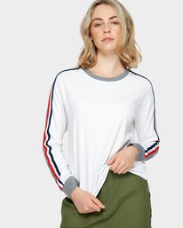 0 EVE LONG SLEEVE TEE White 293051 Element