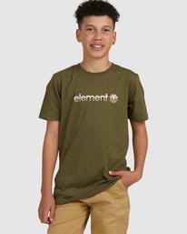 0 YOUTH HORIZONTAL SHORT SLEEVE TEE Green 383001 Element
