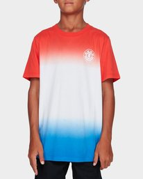 0 YOUTH FADE OUT SS TEE Red 394004 RVCA