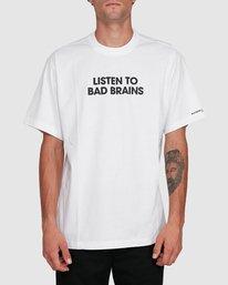 0 LISTEN TO BAD BRAINS SHORT SLEEVE TEE White 502008 Element