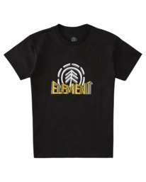 0 Boys' Dimensional Short Sleeve T-Shirt Blue ALBZT00163 Element