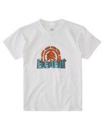 0 Boys' Dimensional Short Sleeve T-Shirt White ALBZT00163 Element