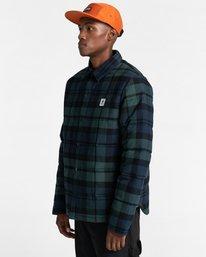 3 Lodge Flannel Shirt Black ALYJK00155 Element