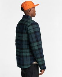 4 Lodge Flannel Shirt Black ALYJK00155 Element