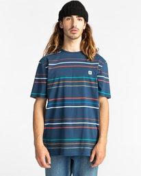 1 Hovden Stripes Short Sleeve T-Shirt Blue ALYKT00110 Element