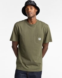 2 Basic Pocket Label Short Sleeve T-Shirt Beige ALYKT00121 Element