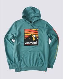 0 Winds Pigment Hoodie Green ALYSF00134 Element