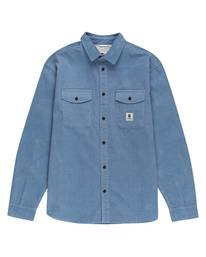 0 Builder Long Sleeve Button Down Shirt Blue ALYWT00112 Element