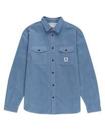 0 Builder Long Sleeve Button Down Shirt Blue ALYWT00112 Element
