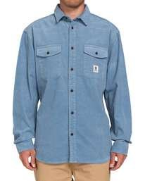 1 Builder Long Sleeve Button Down Shirt Blue ALYWT00112 Element