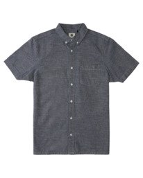 0 Vega Chambray Short Sleeve Shirt White ALYWT00115 Element