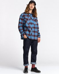 5 Wentworth Flannel Shirt Blue ALYWT00116 Element