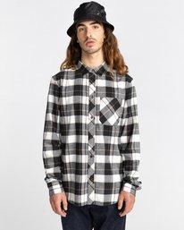 2 Lumber Long Sleeve Flannel Shirt Black ALYWT00118 Element