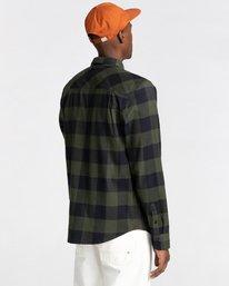 3 Tacoma Flannel Shirt Green ALYWT00121 Element