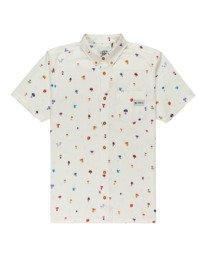 0 Shrooms Skyway Short Sleeve Shirt White ALYWT00123 Element