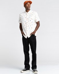 3 Shrooms Skyway Short Sleeve Shirt White ALYWT00123 Element