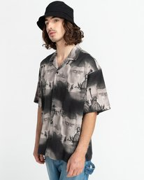 6 Planet of the Apes Paradise Short Sleeve Button-Down Shirt Black ALYWT00124 Element