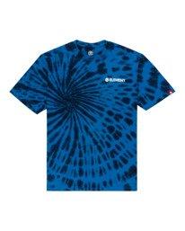 0 Blazin' Chest Tie-Dye Short Sleeve T-Shirt Blue ALYZT00280 Element