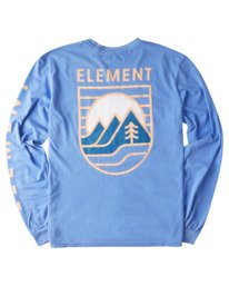 1 Hillsboro Pigment Long Sleeve T-Shirt Blue ALYZT00354 Element