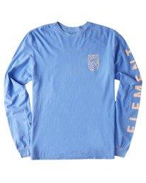 0 Hillsboro Pigment Long Sleeve T-Shirt Blue ALYZT00354 Element