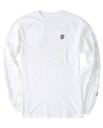 0 Dronis Long Sleeve T-Shirt White ALYZT00364 Element